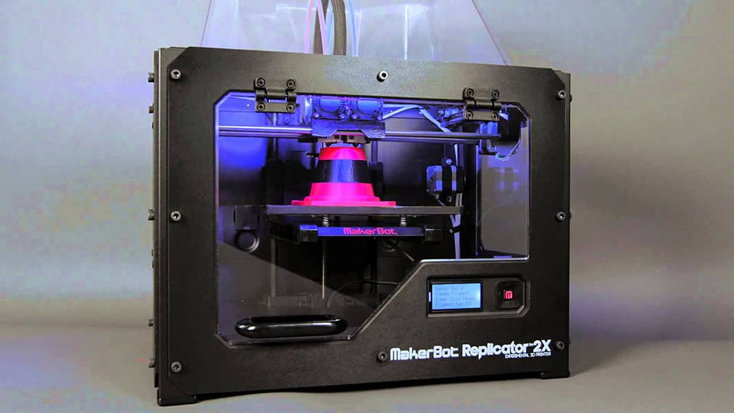 imprimante 3D Makerbot Replicator 2X perspective