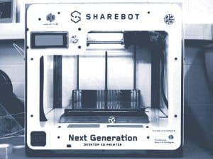 imprimante 3D Sharebot Next Generation dual extruder, face