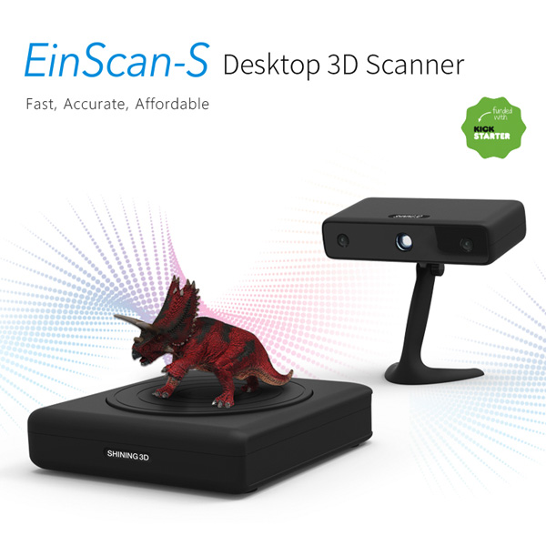 scanner 3D Shining 3D EinScan S scanner 3D triceratops view