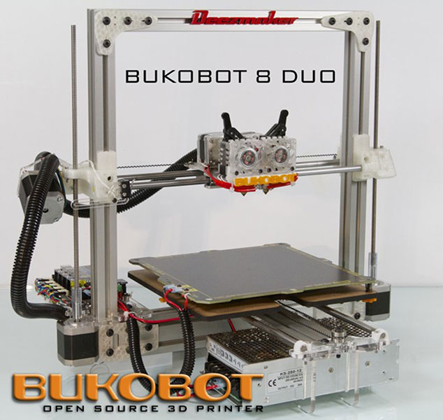 Bukobot 8 v2 Duo Kit (Dual Extruders)