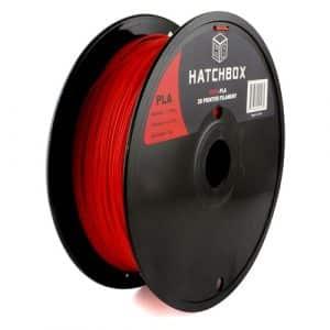 filaments 3D Hatchbox 1.75mm Red PLA 3D Printer Filament
