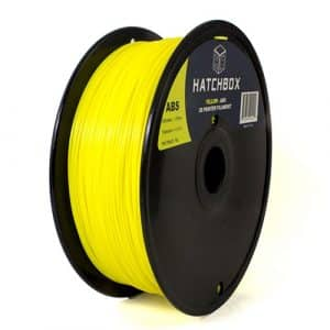 filaments 3D Hatchbox 1.75mm Yellow ABS 3D Printer Filament