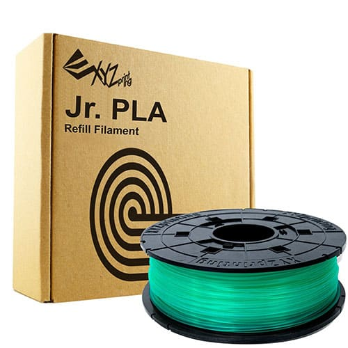 Da Vinci Junior Filament, PLA (NFC), 600 g, Clear Green
