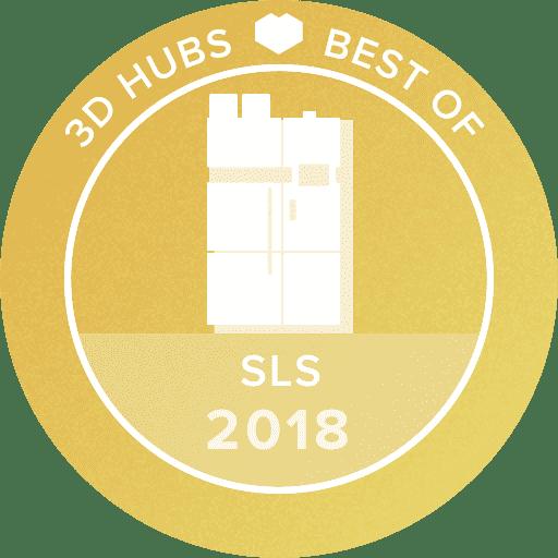 3D Hubs awards 2018 Best SLS 3D printer EOS Formiga P 110