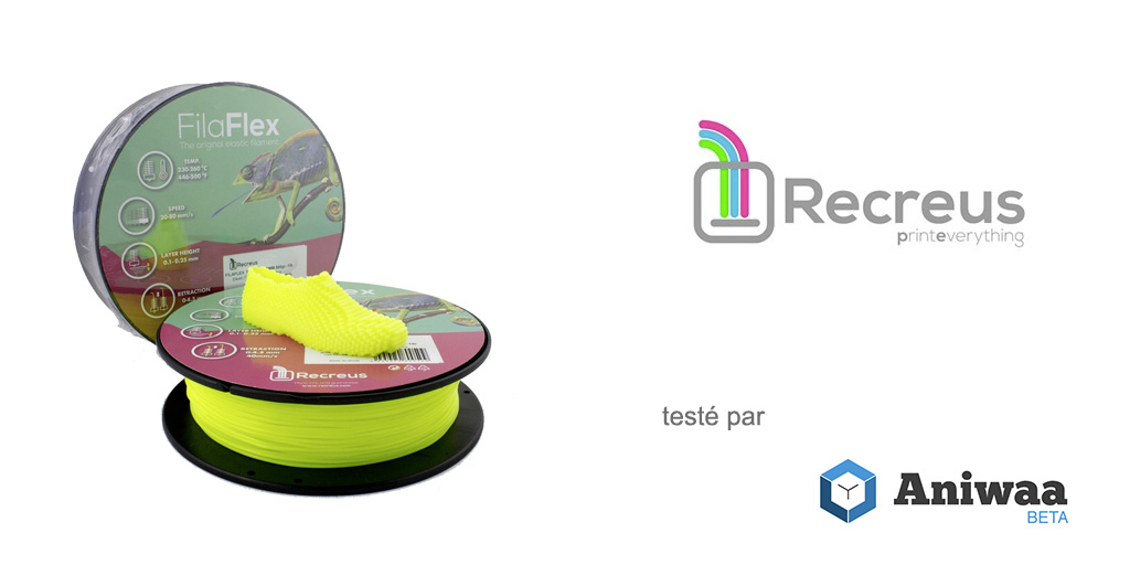 [Test] Le Recreus FilaFlex, un filament flexible pour imprimantes 3D