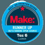 Awards-3D-printer-Make-Runner-up-Outstanding-Open-Source-Taz-6-Lulzbot-2017