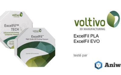 [Test] Le Voltivo ExcelFil EVO et du Voltivo ExcelFil PLA, deux filaments 3D pour imprimantes 3D