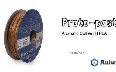 [Test] Le Proto-pasta Aromatic Coffee HTPLA, un filament 3D à l'odeur de café
