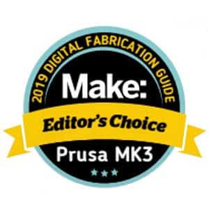 Makezine editor's choice best 3D printer Prusa Research Original Prusa i3 MK3