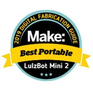 Makezine award 2019 best portable 3D printer LulzBot Mini 2