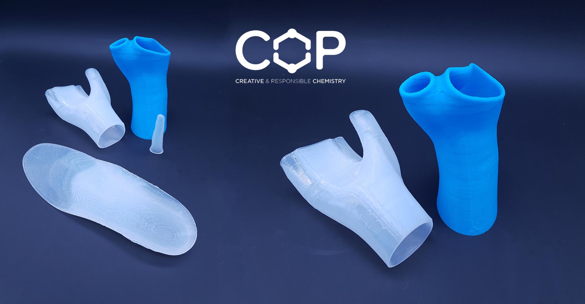 Impression 3D de silicone pour appareillage orthopédique : la chimie durable de COP Chimie