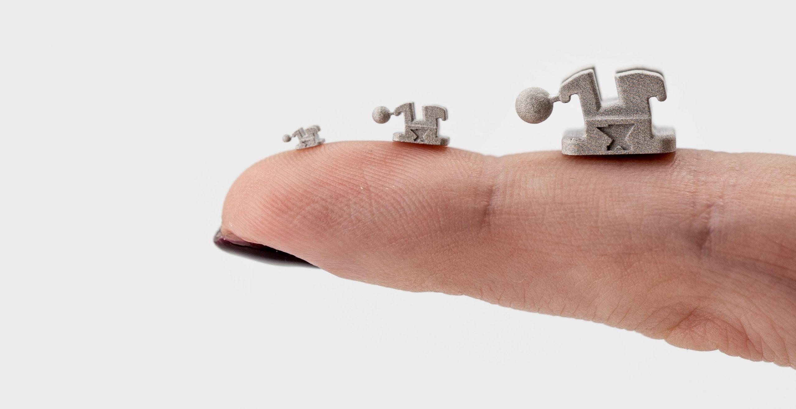 Incus micro additive fabrication sample parts