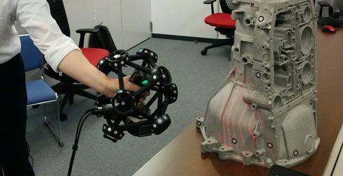 Test du Creaform MetraSCAN 750, un scanner 3D industriel haute-performance